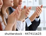 close up view of business... | Shutterstock . vector #447411625
