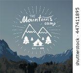 mountains hand drawn sketch...   Shutterstock . vector #447411895