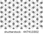 picture with black and white... | Shutterstock . vector #447413302
