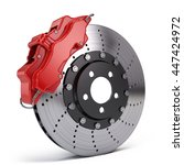 Brake Disc With Red Sport...