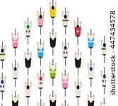 bicycle squad top view...   Shutterstock .eps vector #447434578