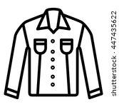 t shirt clothes icon vector | Shutterstock .eps vector #447435622