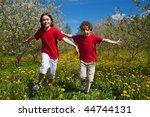 kids running outdoor | Shutterstock . vector #44744131
