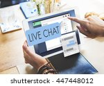 live chat chatting... | Shutterstock . vector #447448012