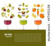 vector illustration with... | Shutterstock .eps vector #447455158