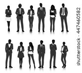 business people silhouettes | Shutterstock .eps vector #447460582
