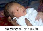 new born boy kid in grand mom's ... | Shutterstock . vector #44746978