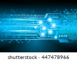 future technology  security... | Shutterstock .eps vector #447478966