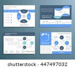 vector set cards for business... | Shutterstock .eps vector #447497032
