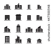 building  icon set | Shutterstock .eps vector #447500548