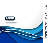 smooth curve lines layout... | Shutterstock .eps vector #447513052