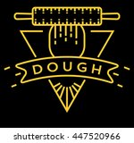 vector dough icon with linear... | Shutterstock .eps vector #447520966
