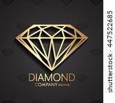 3d diamond shape gold logo  ...   Shutterstock .eps vector #447522685