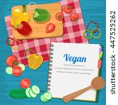 vector illustration ingredients ... | Shutterstock .eps vector #447525262