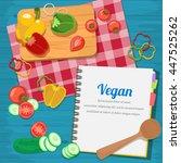 vector illustration ingredients ... | Shutterstock .eps vector #447525262