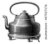 heating kettle  vintage... | Shutterstock . vector #447527176