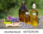 essential oil with rosemary and ... | Shutterstock . vector #447529195