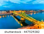 budapest  liberty bridge ... | Shutterstock . vector #447529282
