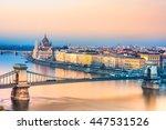 Budapest  Chain Bridge And...