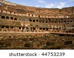 Inside Of The Closseum In Rome  ...
