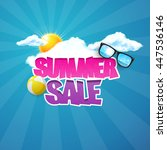 hot summer sale typography.... | Shutterstock .eps vector #447536146