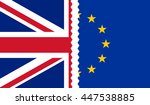 brexit. illustration of uk and... | Shutterstock .eps vector #447538885
