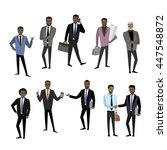 set of different african... | Shutterstock .eps vector #447548872