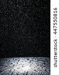 dark background shot of rain... | Shutterstock . vector #447550816