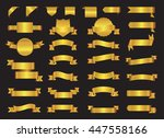 golden ribbon banners.set of... | Shutterstock .eps vector #447558166
