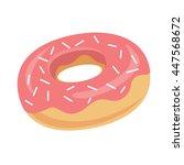 vector donut icon. sugar donut...   Shutterstock . vector #447568672