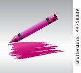 vector illustration of crayon... | Shutterstock .eps vector #44758339
