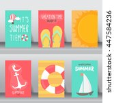 summer  holiday  vacation... | Shutterstock .eps vector #447584236