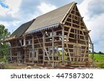 Timber Frame Of A Half Timbere...