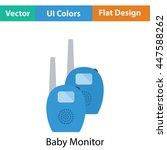 baby radio monitor icon. flat...