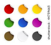 round stickers | Shutterstock .eps vector #44759665