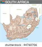 map of south africa | Shutterstock .eps vector #44760706