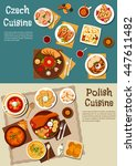 polish and czech cuisine with... | Shutterstock .eps vector #447611482