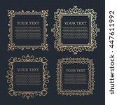 set of vintage calligraphic... | Shutterstock .eps vector #447611992