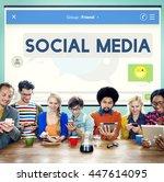 social media stay connected... | Shutterstock . vector #447614095