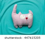 Stock photo toy cat 447615205