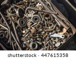 a box of old parts  | Shutterstock . vector #447615358