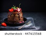 Ombre Chocolate Pancakes With...