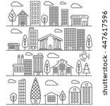 urban landscape illustration... | Shutterstock .eps vector #447617596
