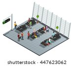airport departure lounge... | Shutterstock .eps vector #447623062