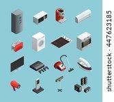 household appliances isometric... | Shutterstock .eps vector #447623185
