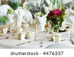 set tables with party favors | Shutterstock . vector #4476337