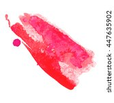 Abstract Watercolor Smear With...