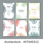 vector template with texture... | Shutterstock .eps vector #447640312