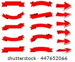 ribbon vector icon set red... | Shutterstock .eps vector #447652066
