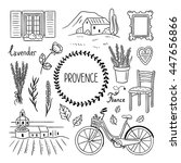 provence hand drawn doodles.... | Shutterstock .eps vector #447656866